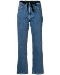 Isa Arfen - Gerade Cropped-Jeans - Lyst