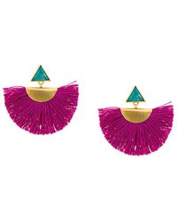 Katerina Makriyianni - Mini Fan Earrings - Lyst