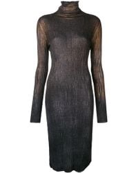 Avant Toi - Slim Fit Polo Neck Dress - Lyst