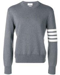 Thom Browne - 4-bar Milano Stitch Pullover - Lyst