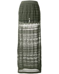 Roberto Collina - Knitted Maxi Skirt - Lyst