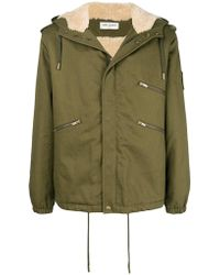 Saint Laurent - Gabardine Windbreaker Jacket - Lyst