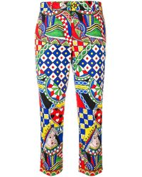 Dolce & Gabbana - Signature Print Trousers - Lyst