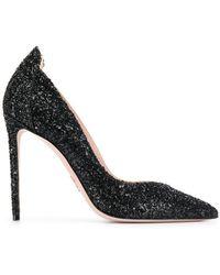 a55e7770185 Lyst - Gucci Leila Metallic Leather Platform Sandals in Metallic