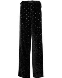 Attico - Embellished Wide-leg Trousers - Lyst