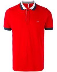Sun 68 - Contrast Polo Shirt - Lyst