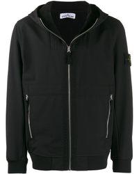 Stone Island Куртка-бомбер С Капюшоном - Черный