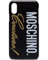 9595f67027 Moschino - Black Couture Logo Iphone X Case - Lyst