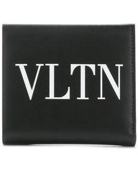Valentino - Portacarte Garavani VLTN con lgoo - Lyst