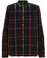 Sacai - Ombre Plaid Shirt - Lyst