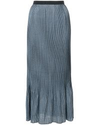 Adam Selman - Checkered Maxi Skirt - Lyst