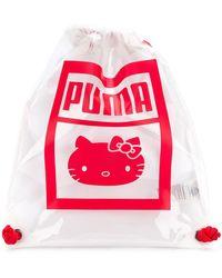 PUMA - Logo Drawstring Backpack - Lyst