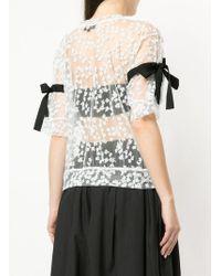 MIYAO - Ribboned Lace T-shirt - Lyst