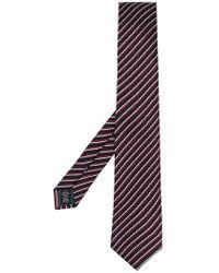 Ermenegildo Zegna - Diagonal Patterned Tie - Lyst