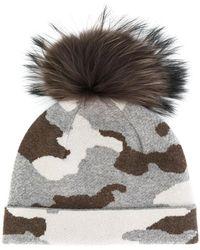 Max & Moi - Camouflage Print Pom-pom Beanie Hat - Lyst