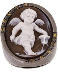 Amedeo - Cherub Ring - Lyst