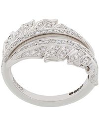 Stephen Webster - 18kt White Gold Magnipheasant Pave Spilt Diamond Ring - Lyst