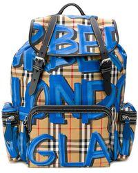 Burberry - Graffiti Vintage Check Medium Backpack - Lyst