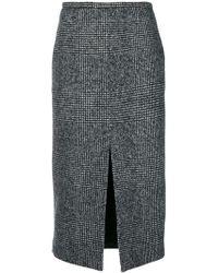 Rochas - Plaid Pencil Skirt - Lyst