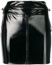 Elisabetta Franchi - Varnished Mini Skirt - Lyst