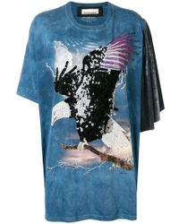Night Market - Eagle Embroidered T-shirt - Lyst