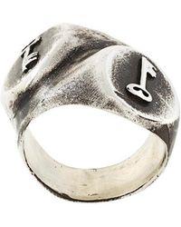 Henson - 'lost Keys Double Signet' Ring - Lyst