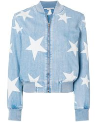Stella McCartney - Denim Star Bomber Jacket - Lyst