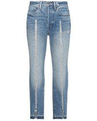 FRAME - Le Original Zip Front Jeans - Lyst