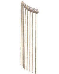 Sophie Bille Brahe - 18kt Yellow Gold X Sacai Fringe Croissant Long Diamond Earring - Lyst