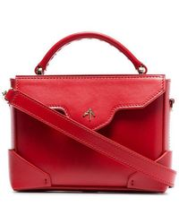MANU Atelier - Red Bold Micro Leather Cross Body Bag - Lyst