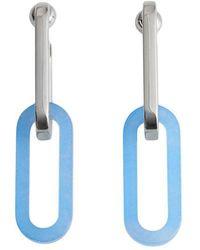 Burberry - Geometric Drop Earrings - Lyst