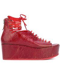 Marsèll - Peep-toe Wedge Sandals - Lyst