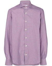 Kiton - Checked Button-down Shirt - Lyst