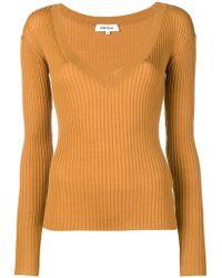 Enfold - Ribbed V-neck Pullover - Lyst