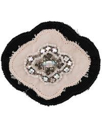 Prada - Flower Embellished Brooch - Lyst