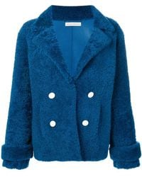 Inès & Maréchal - Double-breasted Shearling Coat - Lyst