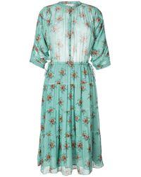 MASSCOB - Floral Print Midi Dress - Lyst