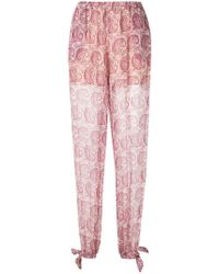 Twin Set - Paisley Print Trousers - Lyst