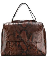 Orciani | Snake Effect Tote Bag | Lyst