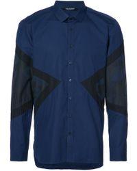 Neil Barrett - Camouflage Triangles Shirt - Lyst