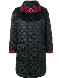 Gucci - Quilted Hooded Coat - Lyst