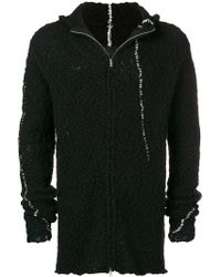 Thom Krom - Fleece Hooded Cardigan - Lyst