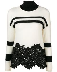 Ermanno Scervino - Lace-panelled Sweater - Lyst