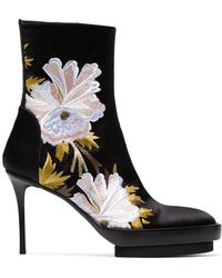 Ann Demeulemeester | Floral Embroidered Boots | Lyst