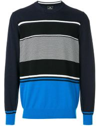 PS by Paul Smith - Striped Colour-block Top - Lyst