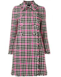 Moschino - Houndstooth Check Coat - Lyst