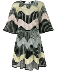 M Missoni - Embroidered Flared Dress - Lyst
