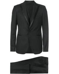 Tagliatore - Satin Trimmed Suit - Lyst