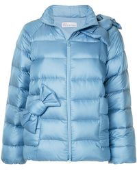 RED Valentino - Bow Detail Puffer Jacket - Lyst