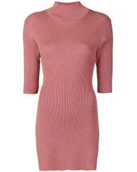Erika Cavallini Semi Couture - Asymmetric Open Back Top - Lyst